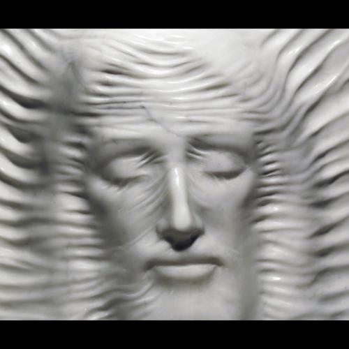 """Christ voilé"" - marbre de Carrare - collection privée - sculpture de Maria de Faykod"